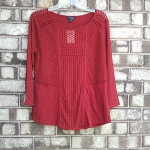 Gorgeous NWT Lucky Brand size M in burgundy